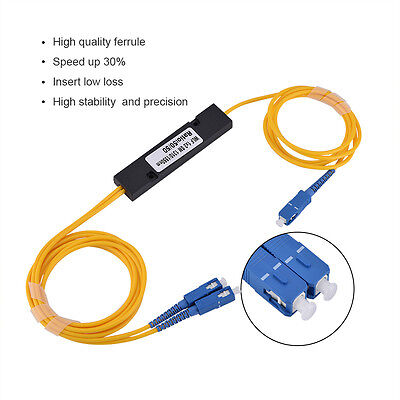 Dual Port SCUPC Singlemode Optical Fiber Splitter Audio Adapter Cable 1 In 2 Out