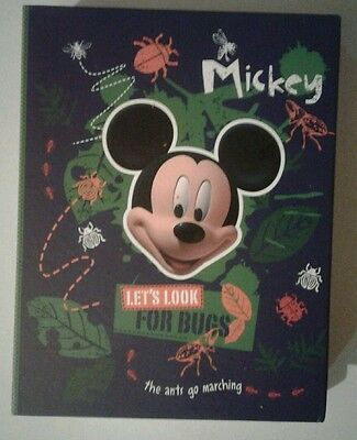 Disney Mickey Mouse 36 page holds 72 4x6 photos kids  photo album