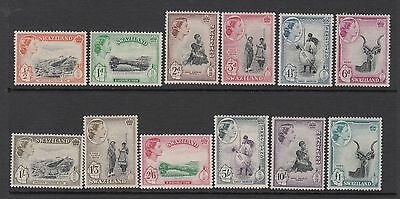 Swaziland: 1956 Definitives set of 12 stamps.SG53/64. MUH/MNH. Going cheap