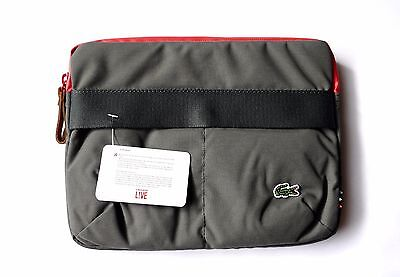 "Lacoste 9.7"" iPad Original Air Pro 1 2 3 4 Green Red Sleeve Tablet Case RRP £60"