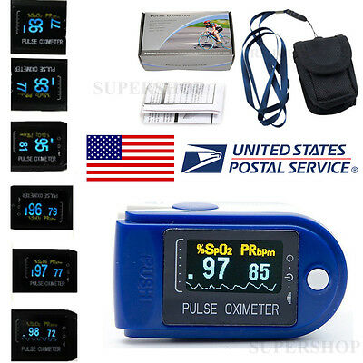USA 6 MODES 6 COLORS OLED Fingertip Pulse Oximeter Blood Oxygen PR SpO2 Monitor