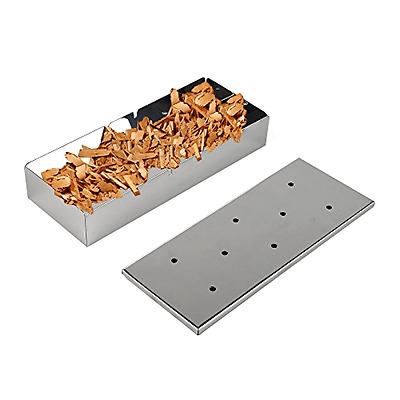 Smoker Box Stainless Steel Grill Accessories BBQ Tool New Gift Cooking Barbecue