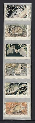 1992 Threatened species CPS  strip of 6, blank. MNH/MUH.Very rare.