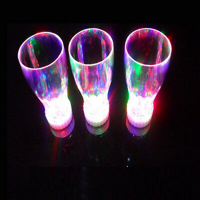 Colorful LED Flashing Light Beer Wine Mugs Glass Drinking Cup for Bar Party Club