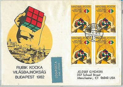 64626 -  Hungary - Postal History - Fdc Cover 1982 - Toys:  Rubik Cubes