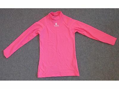 Womens Proskins Active Pink Long Sleeve Compression Fitness Sports Top Size 10