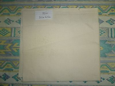 Aida Cloth - 14Ct - Ecru - 45 Cm X 36 Cm