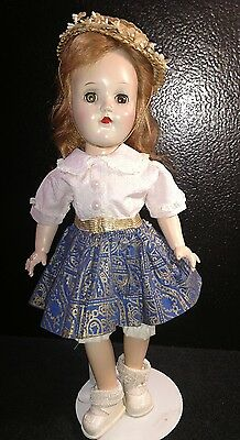 """Vintage IDEAL TONI 14"""" Doll P-90 in tagged dress with stand"""
