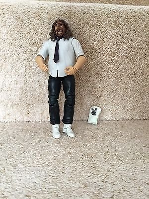 Rare Used Wwe Elite Mattel Figure Mankind Mick Foley With Socko Accessory Wwf