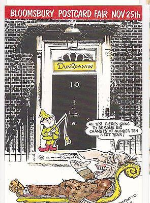 Changes At Number 10 Political Comic Limited Edition B56 Postcard Saporito/Joz