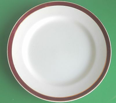Solian Ware 'Queens Maroon' Red & White Small Dinner Plates 21cm c.1940