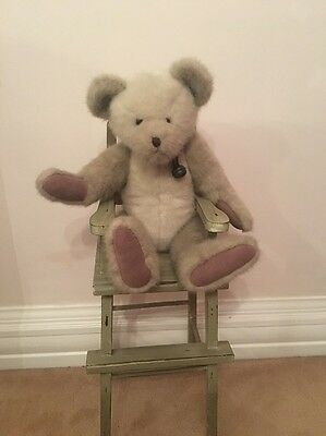 Boyds Archive Traditional Teddy With Bell And High Chair