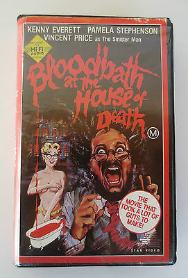 Betamax BLOODBATH AT THE HOUSE OF DEATH CEL Video *Horror Beta