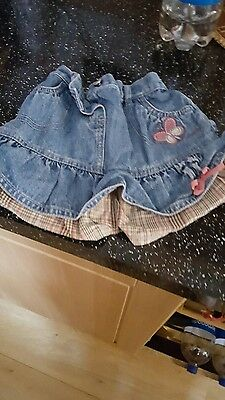 girls next denim skirt size 18/24 months