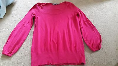 New Look size 12 pink bell sleeve maternity jumper
