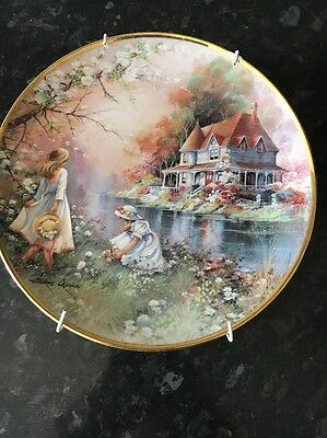Gathering Flowers Plate Limited Edition franklin Mint