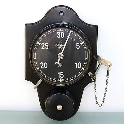 JUNGHANS AGFA Antique TOP BAKELITE Wall Clock TIMER Germany Alarm FULLY RESTORED