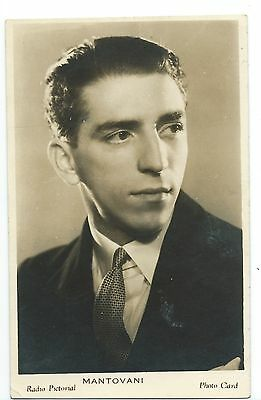 MUSIC - MANTOVANI  Radio Pictorial postcard sized Real Photo Card