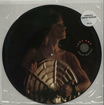 """Cold Metal Iggy Pop UK 12"""" vinyl picture disc record AMP452 A&M 1988"""