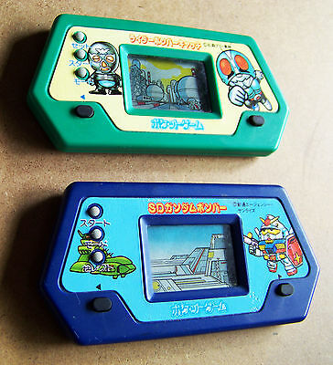 Vintage 1989 BANDAI Japan (used) Hand Held game & watch style LCD video games