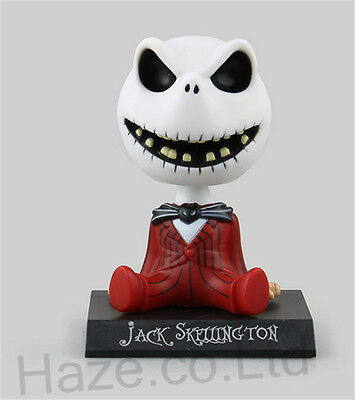 Bobble Head Jack Skellington Figure Kids Toys with Box 4""