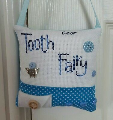 Completed Cross Stitch - Tooth Fairy Cushion