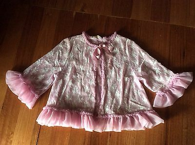 Vintage Pink Lacey/frilly Bed Jacket