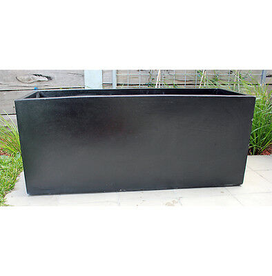 Garden Pots: BATCH OF 6 x Black Light Weight Terrazzo Planter Box