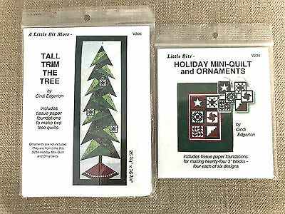 Tall Trim The Tree Paper Pieced Christmas Tree Wallhanging Sewing Patterns