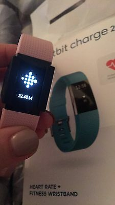 Fitbit Charge 2 Pink And Blue Straps Barely Used