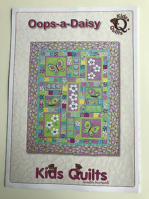 Oops-A-Daisy Children's Single Quilt Applique Quilt Pattern Kids Quilts