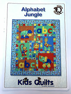 Alphabet Jungle Child's Cot/crib Quilt Applique Pattern Kids Quilts New Zealand