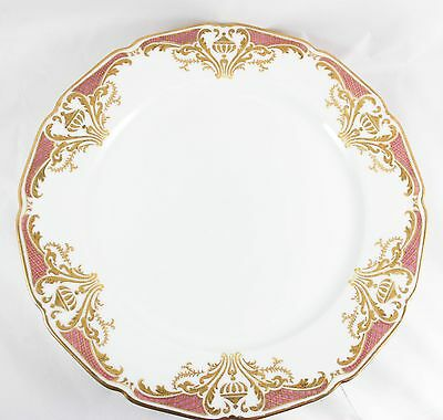 3 Antique Hand Painted Dinner Plates Guerin Limoges China Gold Encrusted Magenta