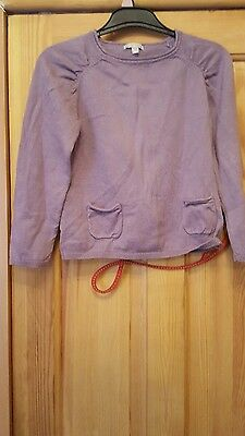 girls brown knitted jumper with ladybird on the back size 6 years