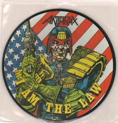 """Anthrax I Am The Law UK 7"""" vinyl picture disc single LAW1 ISLAND 1987"""