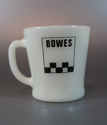 Vintage Fire King Anchor Hocking BOWES Seal Fast Advertising Garage Coffee Mugs
