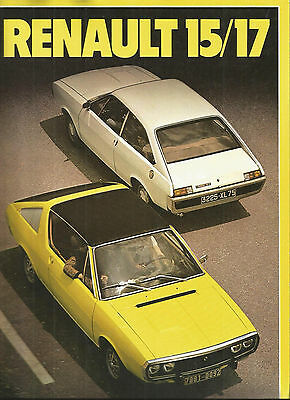 RENAULT 15 17 dont GORDINI - 1975 / catalogue brochure prospekt dépliant catalog