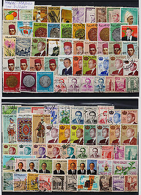 Maroc Selection Of 100 Different Used Stamps. Combined Shipping