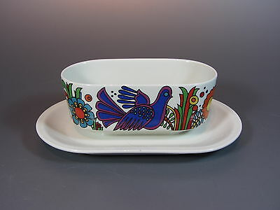 Vintage Villeroy & Boch Acapulco Patern Gravy Boat Blue Marks Made Luxembourg