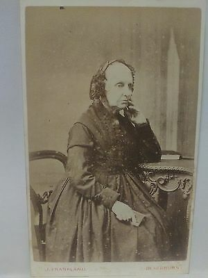 Scary old lady cdv photo victorian cabinet photo