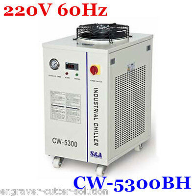 S&A 220V 60Hz CW-5300BH Industrial Water Chiller  for 150W CO2 Glass Lase 0.96HP