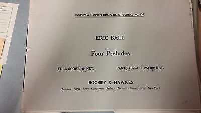 Ball: Four Preludes: Brass Band Music Score