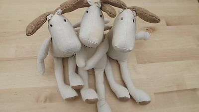 3 Reindeer Ready For Dressing Or Colouring In. Bargain!