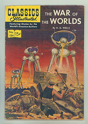 Classics Illustrated #124 HRN 125 (Original) FN War of the Worlds by H.G. Wells