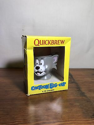 Quickbrew Cartoon Egg Cup   Tom and Jerry   Collectable 1995   Boxed