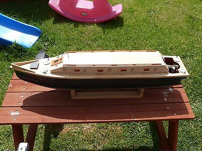 Wooden R/C canal boat