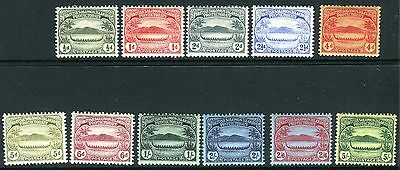 BRITISH SOLOMON ISLANDS-1908-11 Small Canoes lightly mounted mint to 5/- Sg 8-17