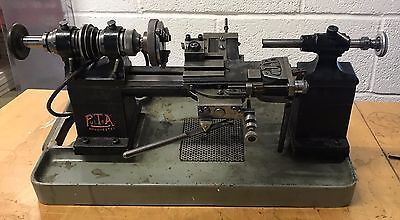 Pultra 1750 Watchmakers Lathe Drawbars Topslide Cross Slide Chuck Rdgtools 011