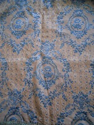 Other 2 curtains French antique fabric silk cotton Marie Antoinette 19th-century
