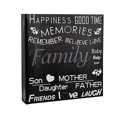 Large Black Text Cover Ring Rinder Photo Album for 500 Photos 4 x 6''